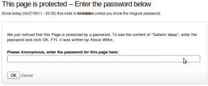 Protected Node Password Form