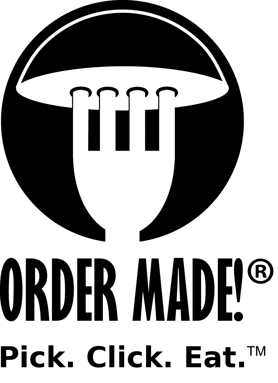 PNG logo of Order Made! in Black & White