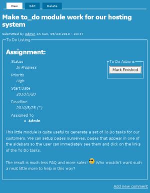 To Do Item screenshot
