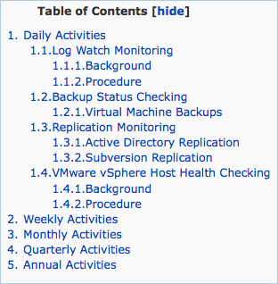 Single numbering with the Table of Contents counter features.
